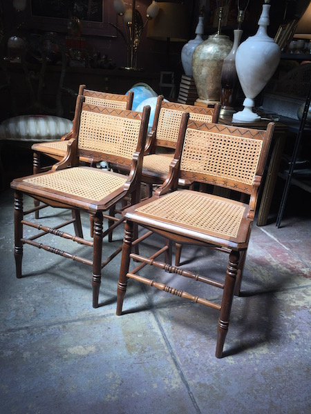 Four Compact Victorian Chairs