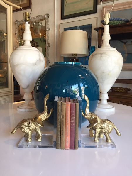Pair of Contemporary Elephant Book Ends