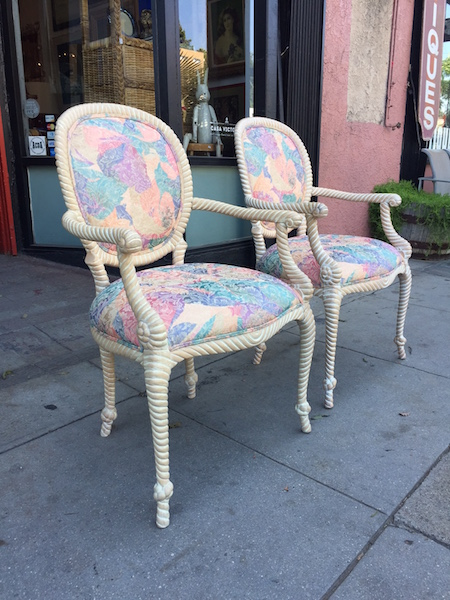 Pair of 1980s Rope Chairs