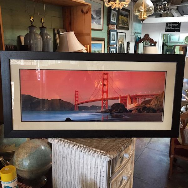 Framed Photograph of Golden Gate Bridge