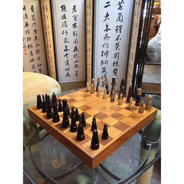 Handmade Bone Chess Set