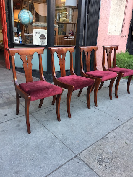Set of 4 Mahogany Colonial style Chairs