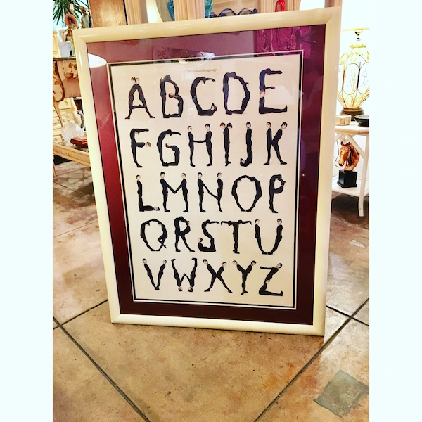 Large 1980s The Human Language Print
