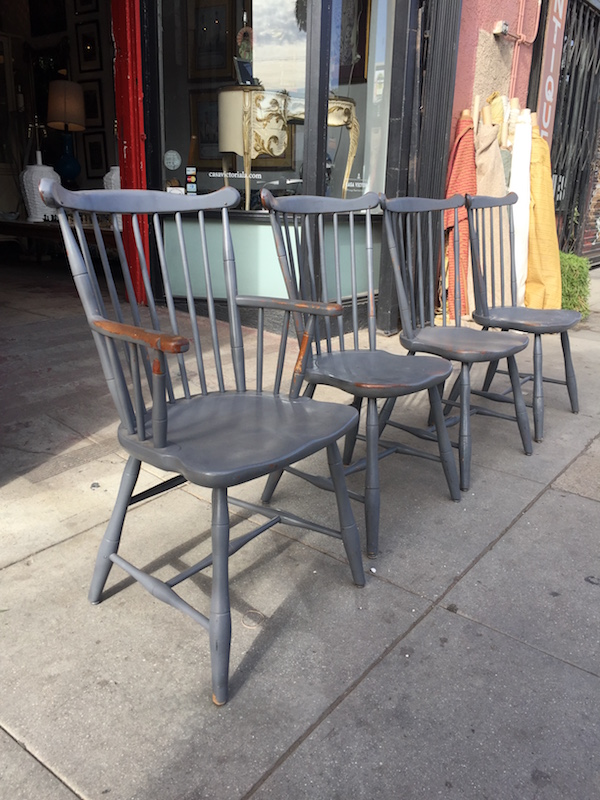 Set of Four Vintage Colonial Style Dining Chairs by STICKLEY