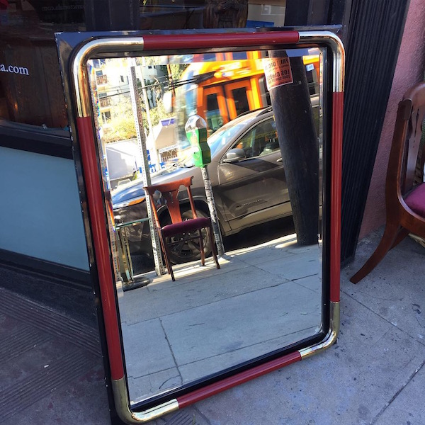 1980s Lacquered Mirror by Stevens Art Products, CA