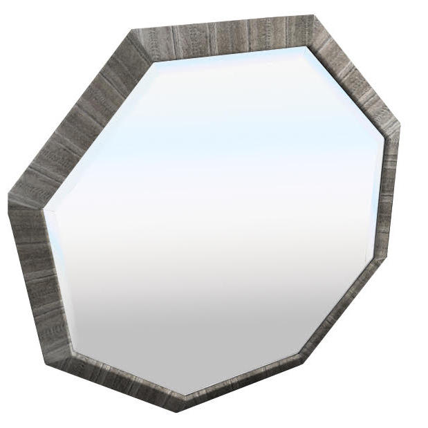 Large 1980s Octagonal Mirror