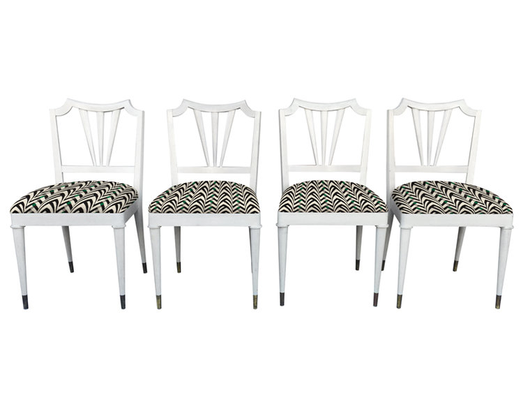 4 Mid-century Dining Chairs by Paul Frankl
