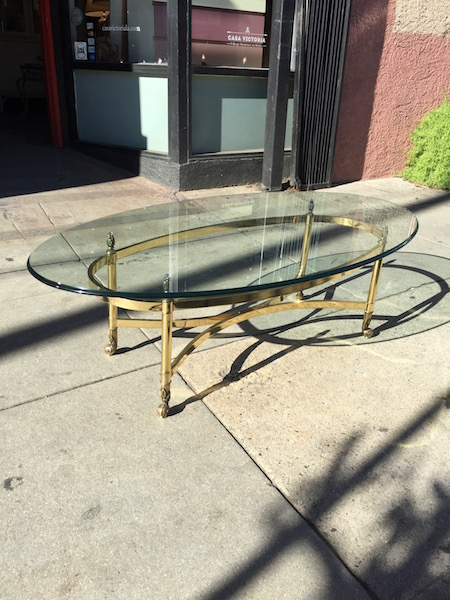 Classic Italian Coffee Table With Brass Finish