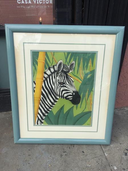1980s Zebra Serigraph