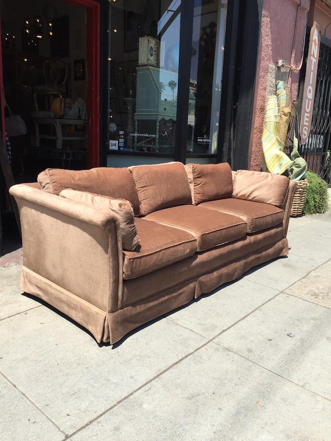 Classic Velvet Sofa by HENREDON