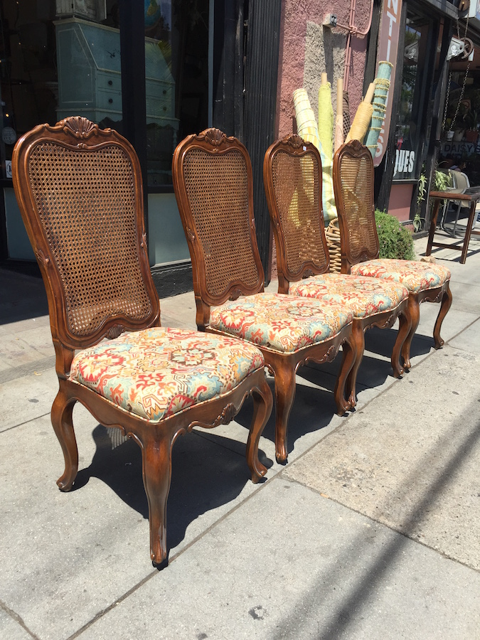 Four French-style Dining Chairs by Henredon