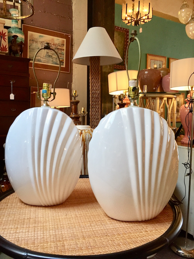 Pair of 1980s Modern Ceramic Lamps