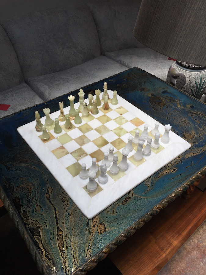 Large chess set handcrafted in Pakistan
