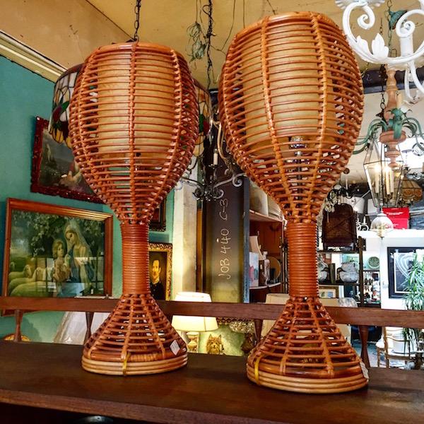 Vintage Rattan Lamp