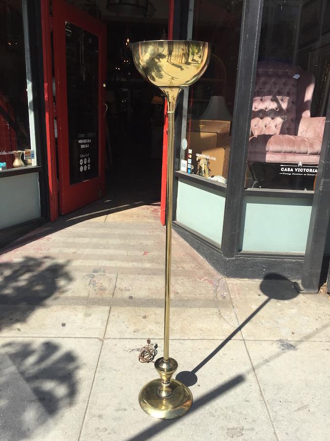 Mid-century Brass Floor Lamp