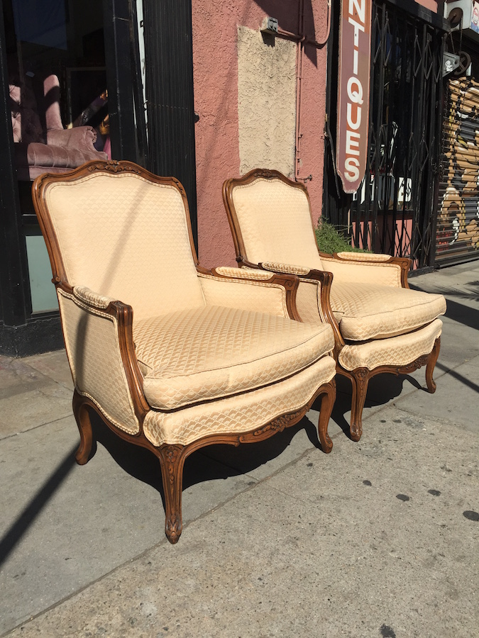 Pair of Classic French style Bergere Chairs