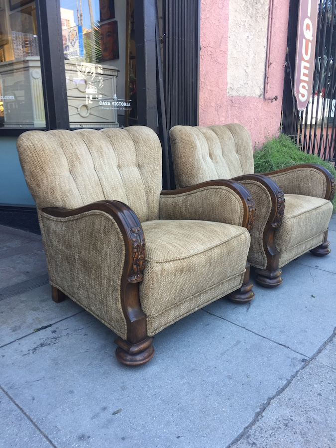 Pair of Art Deco Era Club Chairs