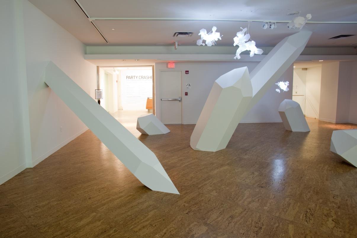 "Lia Halloran & Collider ""Folding/Unfolding"" Artisphere WIP Gallery install shot  Arlington, VI, November 13th 2010 - January 15th 2011"