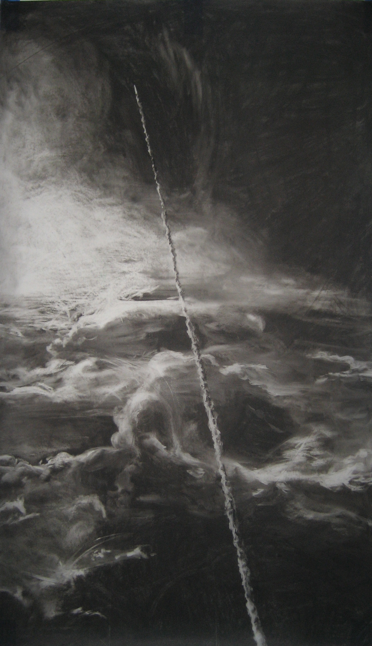 Challenger   2007 Charcoal on vellum, 60 x 42 inches