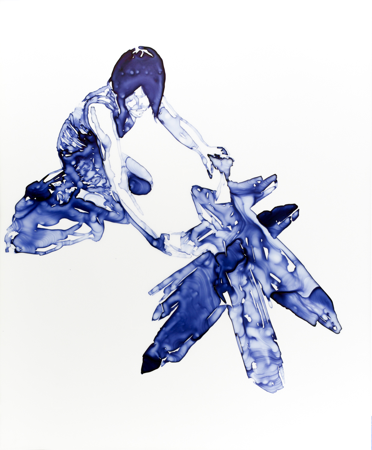 Crystalline Form  2012 Ink on Duralar, 14 x 11 inches
