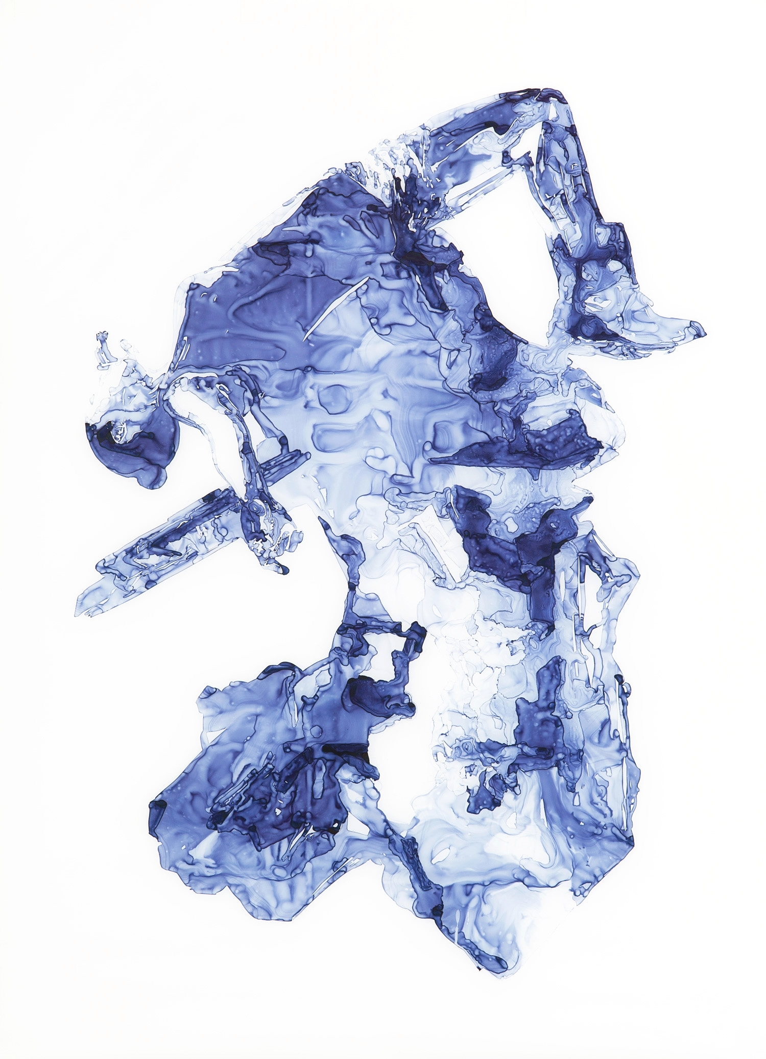 Gypsum  2012 Ink on drafting film, 84 x 60 inches