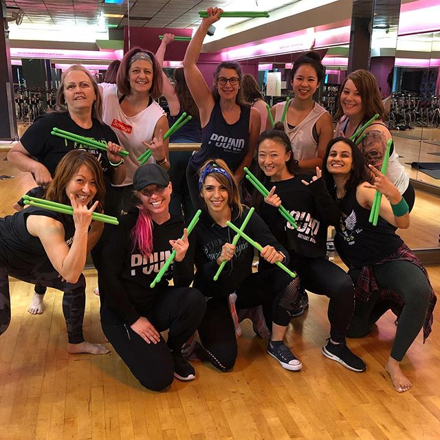 It was such a pleasure to Level Up these incredible Ladies. With open hearts and minds ready to learn they crushed the day! Congrats Rockstars on taking your skills to the #nextlevel!!! 💚 #poundfit #makenoise #rockoutworkout