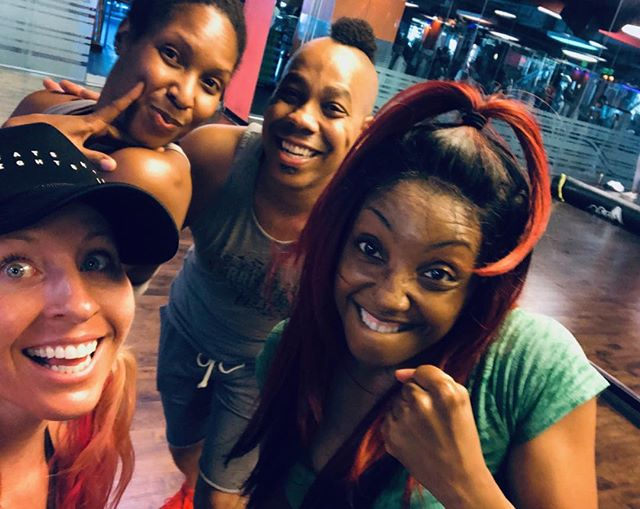 Always LOVE when I get to be a student. Especially from these badass instructors!! 🙌🏼#sunset #crunch #brawl #afho #tribalhouse #dance #fitness #fun #empower #entertain