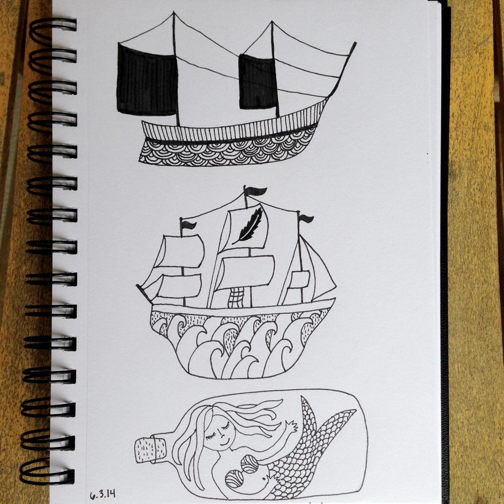 tam bennett make art that sells nautical sketches