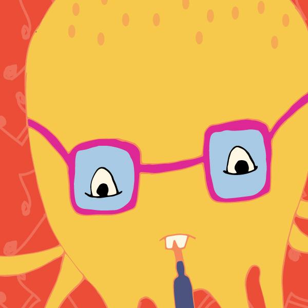 tam bennett alphabet illustration octopus