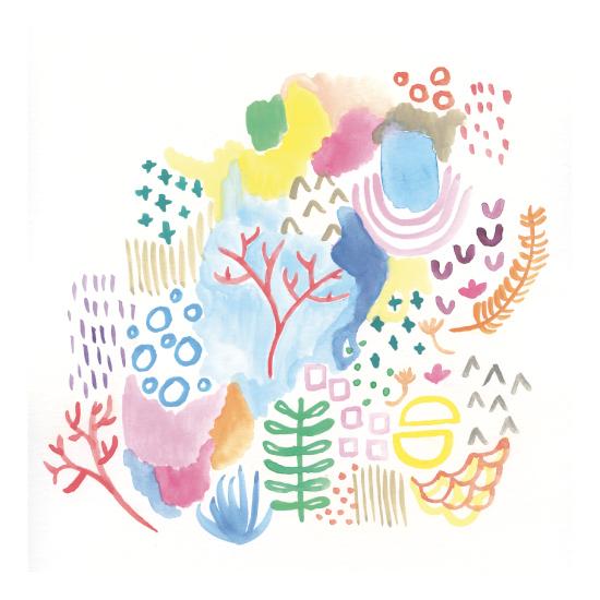 tammie bennett's coral reef print