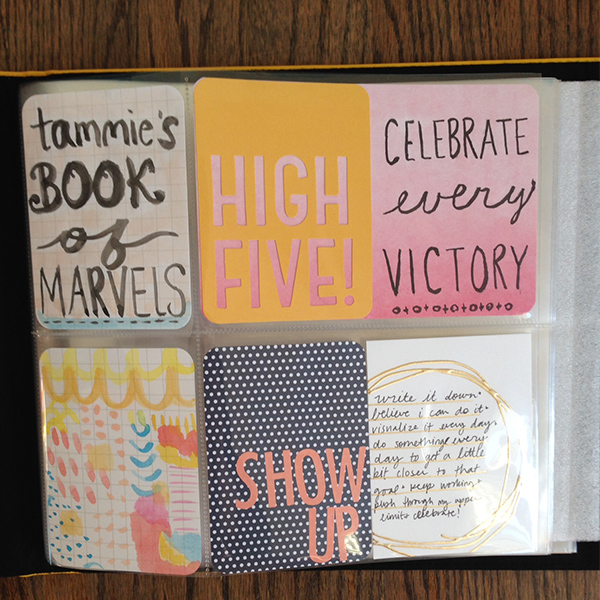tammie bennett's project life album book of marvels