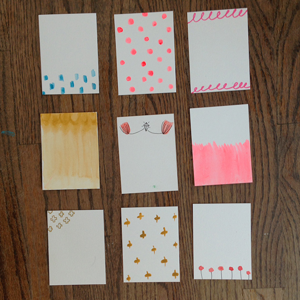 tammie bennett's hand painted project life cards
