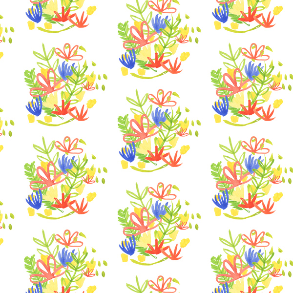 tammie bennett's watercolor spring pattern