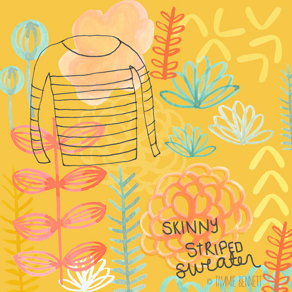 tammie bennett's skinny striped sweater