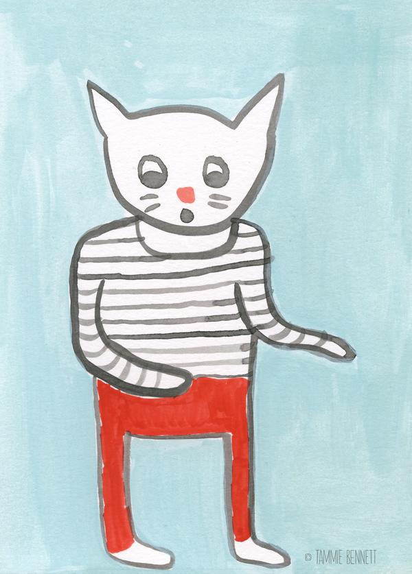 tammie bennett's shocked kitten