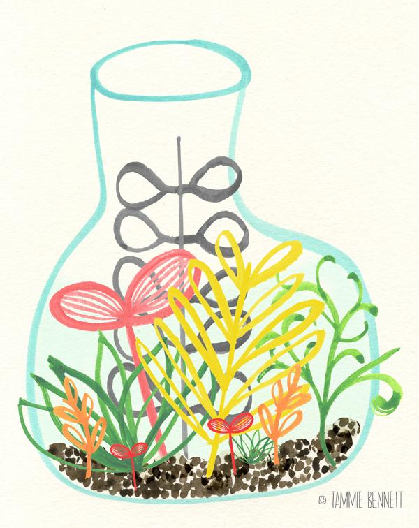 tammie bennett's plant jar print