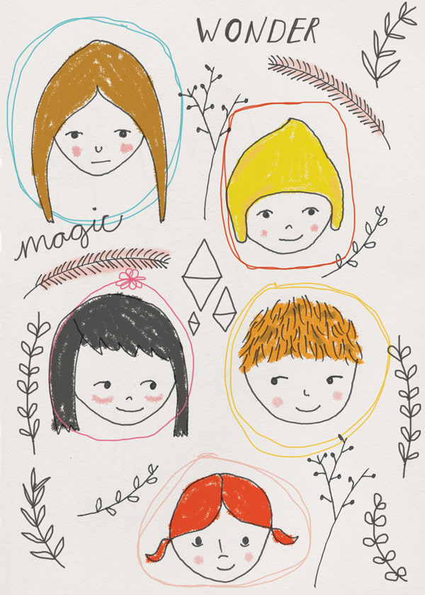 tammie bennett's rosey cheeked kids illustration