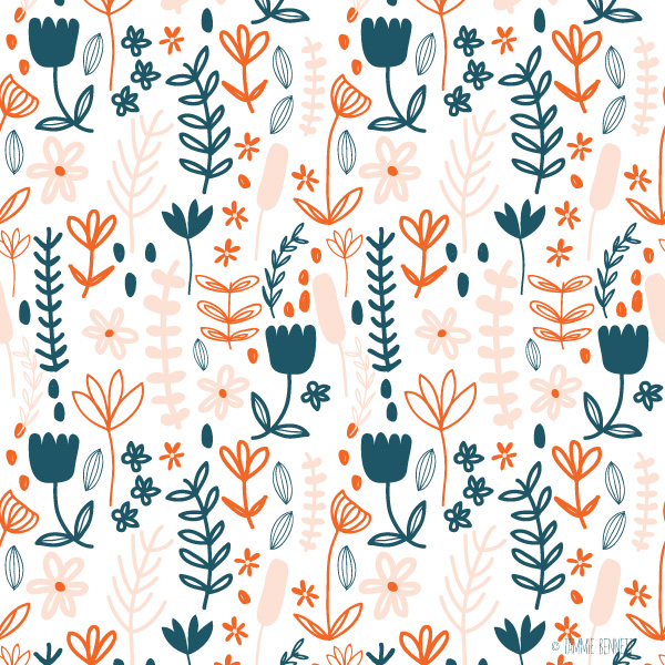 tammie bennett's field of flowers pattern