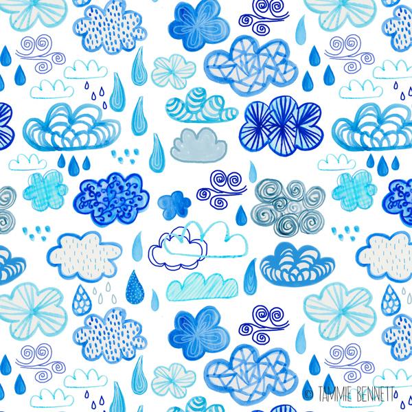 tammie bennett's clouds pattern