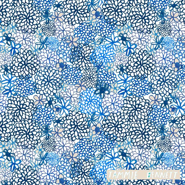 riviera indigo pattern ©tammiebennett