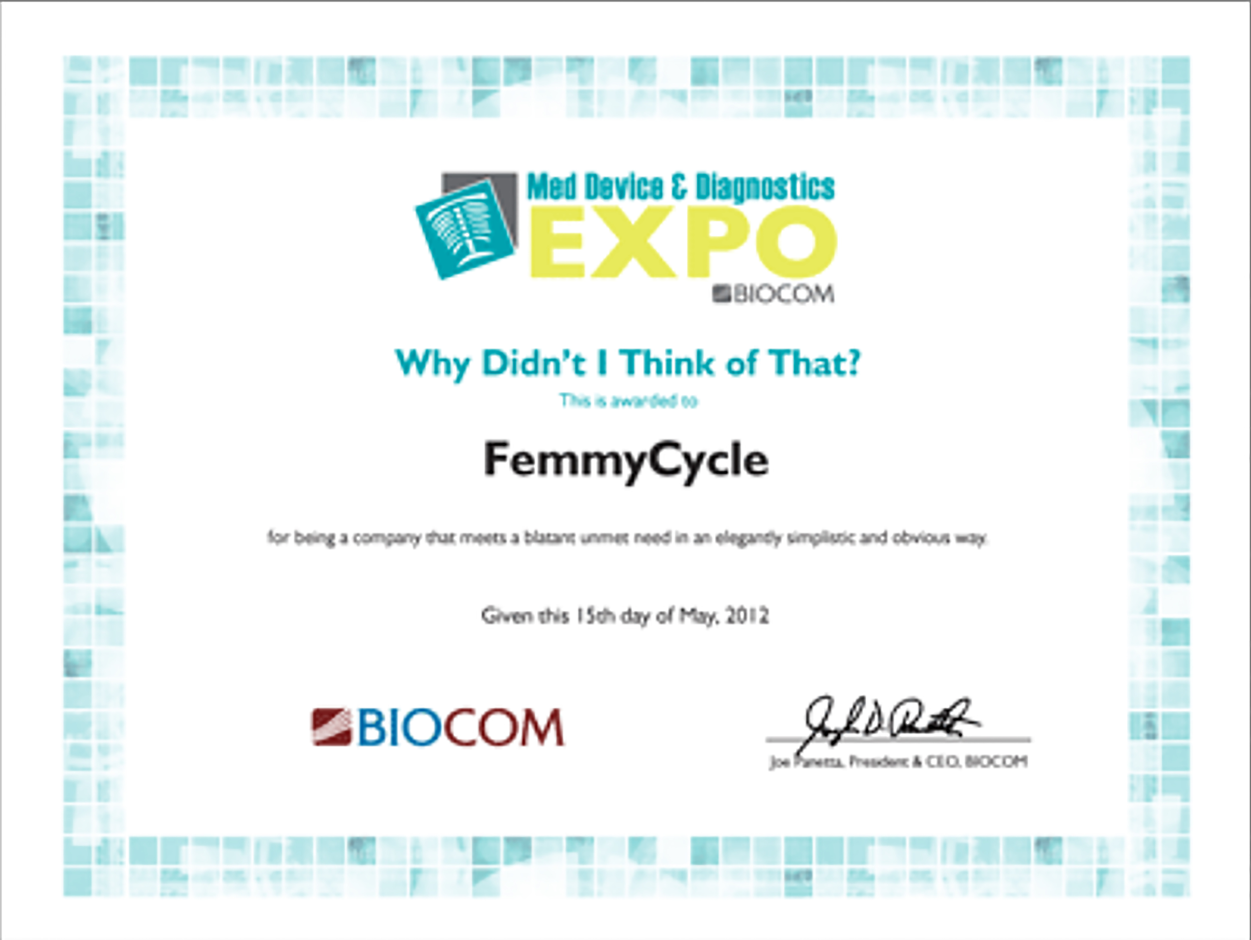 BIOCOM Honor 2012