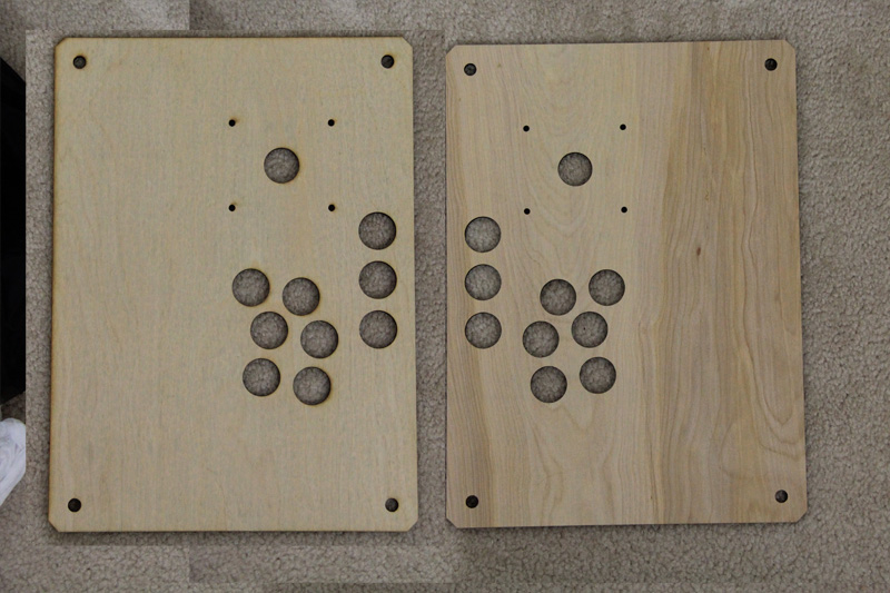 Two sides of the same top plate to show how much better the right looks.