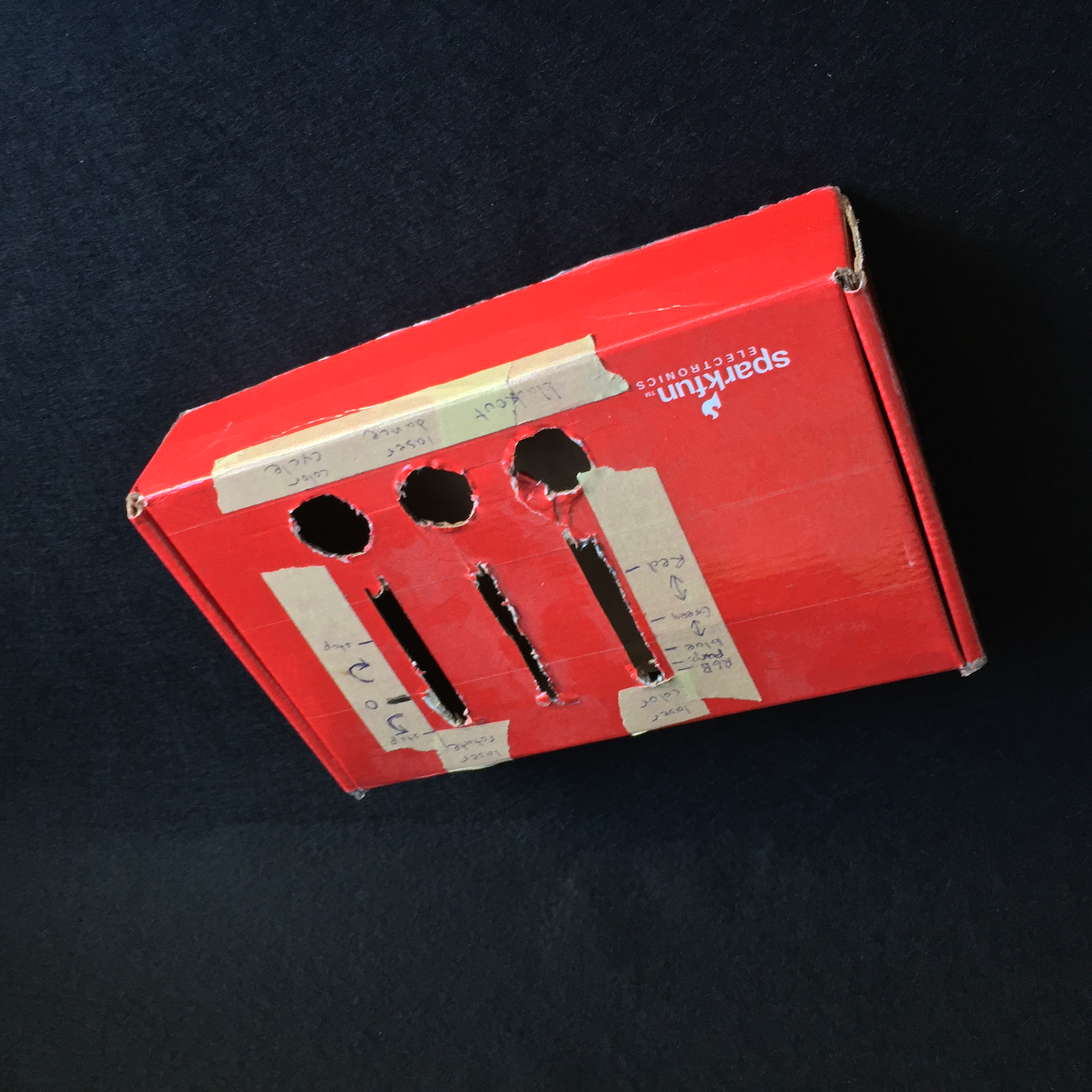 My first very first arcade controllers were for DJs to control lighting effects livewith arcade buttons and sliders