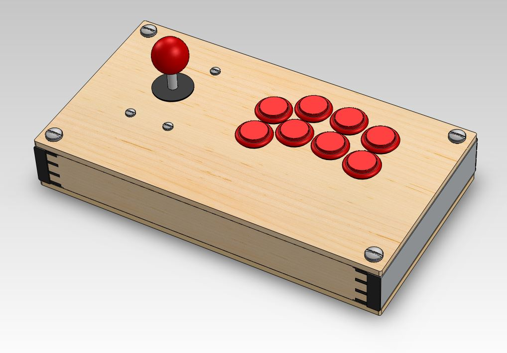 CAD design that never became anything. It's the evolution of the scrap arcade stick materialsabove