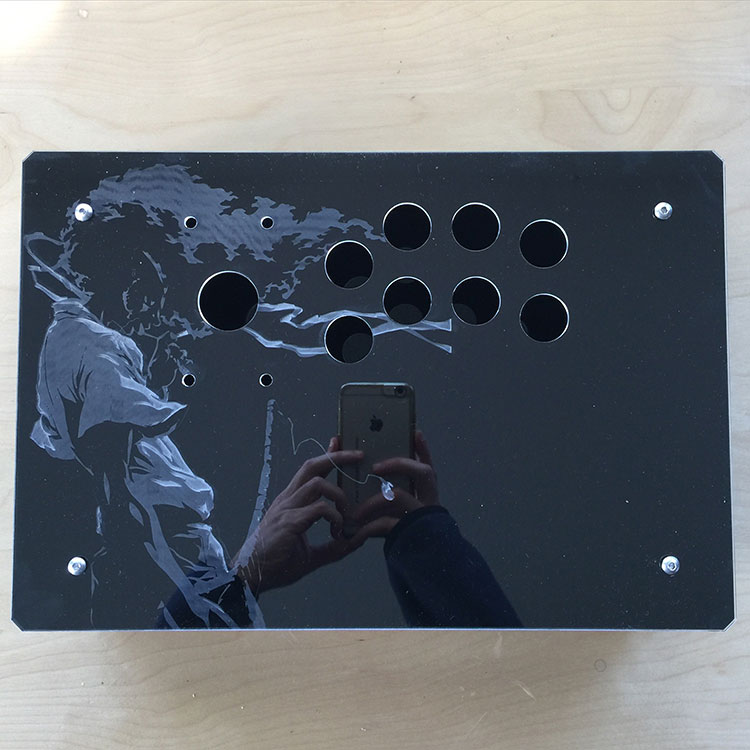 Lasert cut wood or acrylic, any button layout you need
