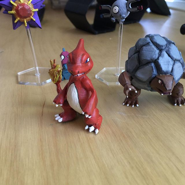"Charmeleon! ""Gotta make just the ones I want"" 🎤🎼 3D printed in ABS, painted with acrylics  Custom 3D prints 👇 www.cuddleburrito.com/make  #Pokemon #poke #charmeleon #pokesquad #pokemongo #videogames #diy #videogamelife #maker #custom #miniature #painting #3dprinting #3dprinted #3dpokemon #irlpokemon #realpokemon"