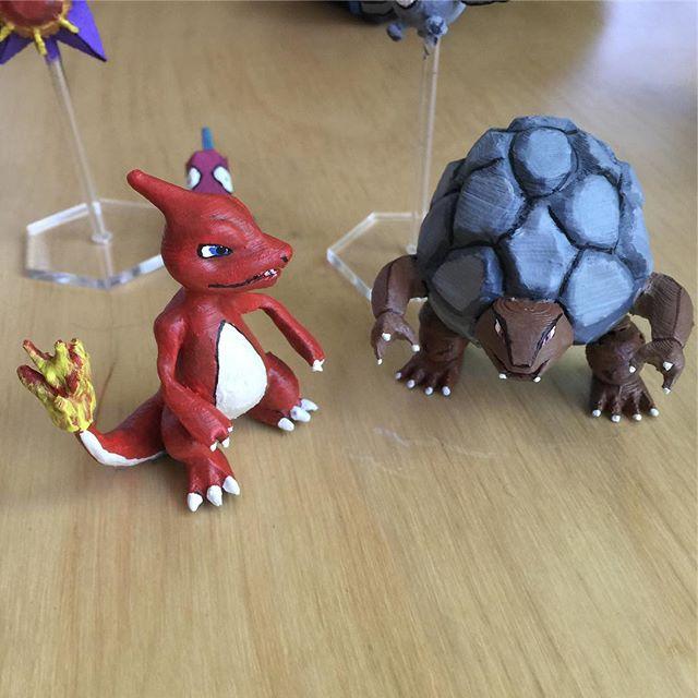 #3dprinted #charmeleon #pokemon #realpokemon #3dpokemon #3dprinting #diy #maker #makeallthethings #gottacatchemall #absplastic #miniatures