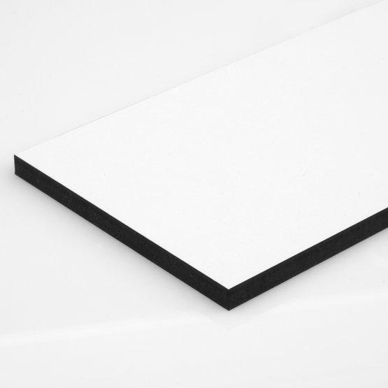 Semi-gloss white melamine