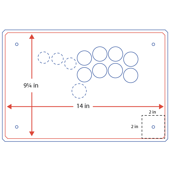 Example custom hitbox layout