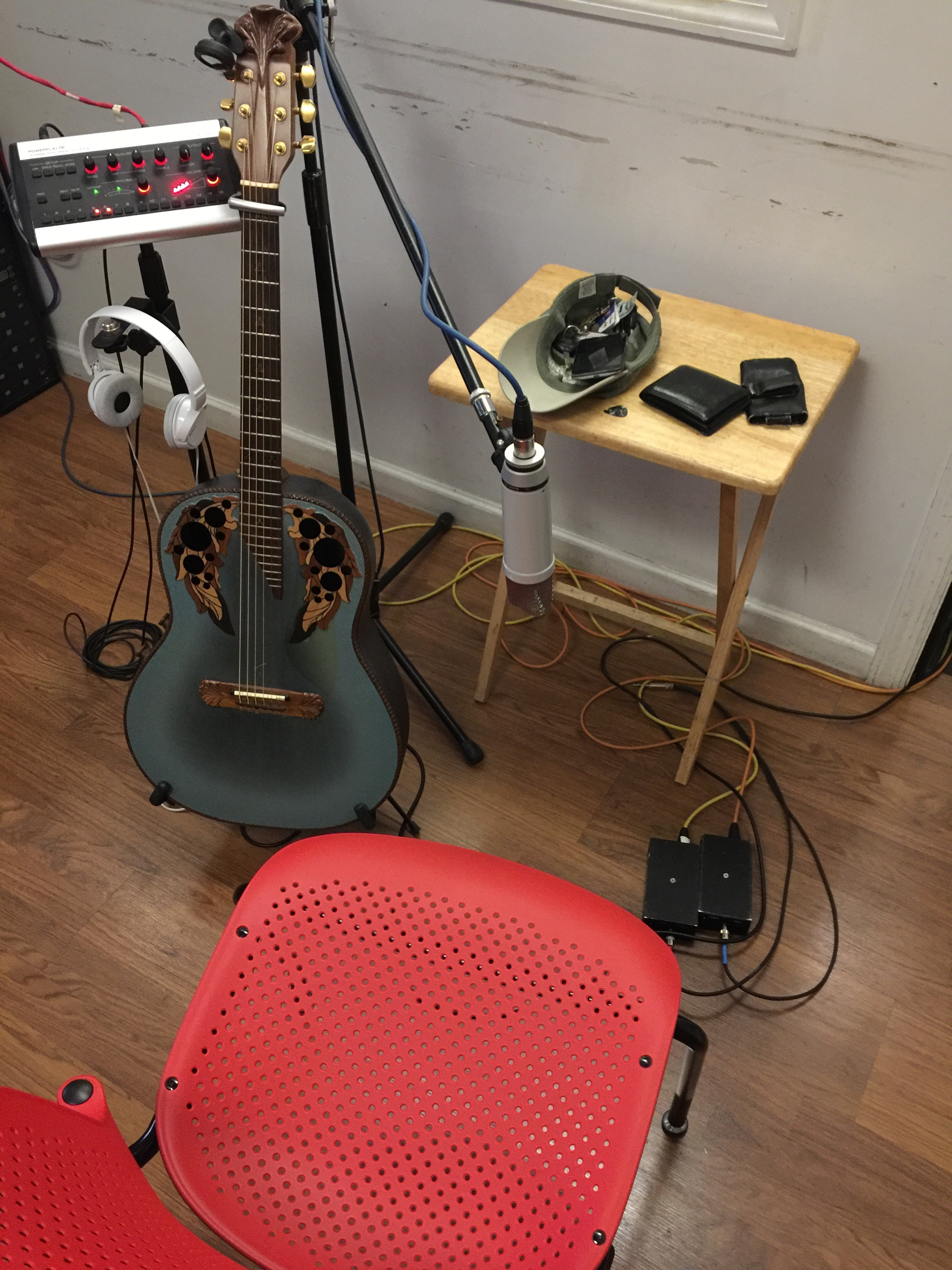 On 7/1/16 we recorded ElectroAcoustic Guitar, VoiceOver, and then mixed songs.